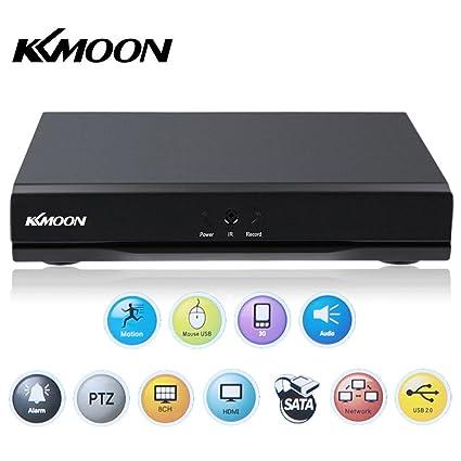 Kkmoon - Grabador de vídeo digital para cámara de vigilancia de seguridad CCTV de red DVR