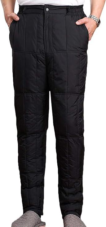 Women Fashion Quilted Pants Winter Outwear Duck Down Puffer Warm Long Trousers