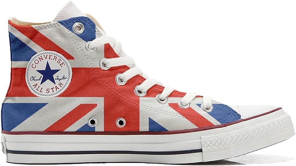 con la Bandera brit/ánica Sneakers Original American USA Customized Producto Artesano Zapatos Personalizados
