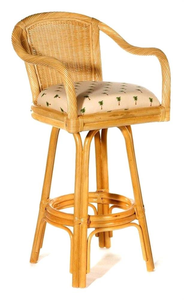 Wicker Bar Stools ~ Rattan wicker bar stools chairs counter seating