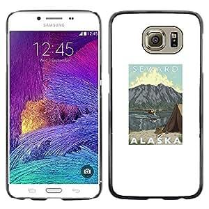 TopCaseStore / la caja del caucho duro de la cubierta de protección de la piel - Mountains State Seward Usa Nature - Samsung Galaxy S6 SM-G920