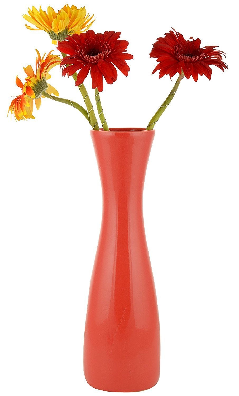 Buy Woodenclave Red Ceramic Flower Vase Sleek Flower Vase for Home and Office Online at Low Prices in India - Amazon.in  sc 1 st  Amazon.in & Buy Woodenclave Red Ceramic Flower Vase Sleek Flower Vase for Home ...