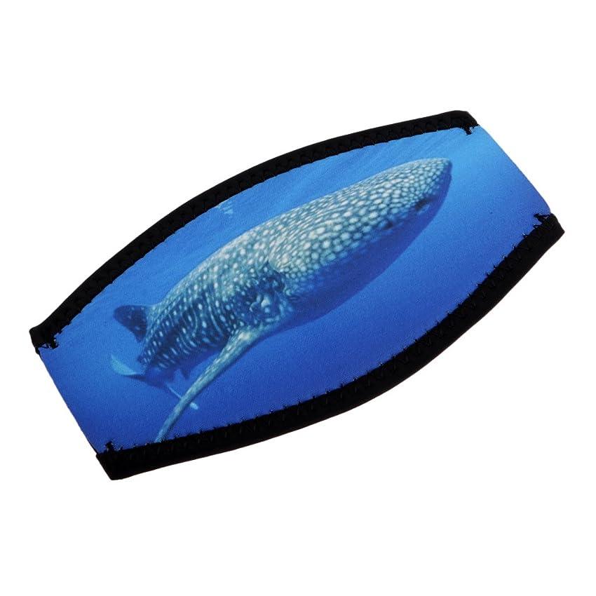ドループ弱まる力学SeaCanary(シーキャナリー) シュノーケリング ダイビング用 マスクストラップカバー トライバルハート  ブルー