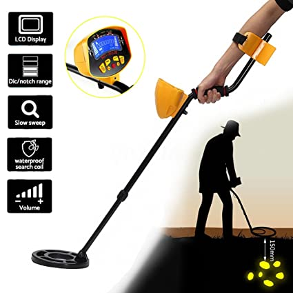 Amazon.com : Eachbid MD-3010II Metal Detector Underground Silver Gold Digger Light Hunter Deep Sensitive LCD Display : Garden & Outdoor
