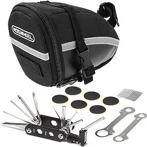 Lixada Bolsa de Sillín para Bicicleta con Herramientas de Reparación 14/16 en 1 Multifuncional Kit Pinchazos Bicicleta: Amazon.es: Deportes y aire libre