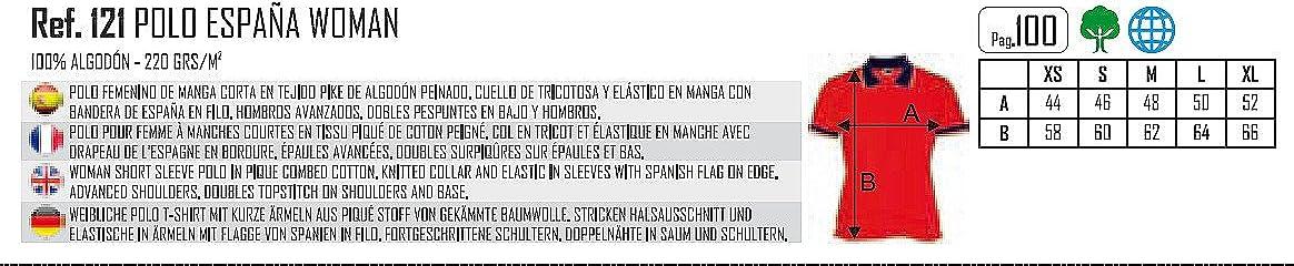 Polo Bandera ESPAÑA 100% ALGODÓN Blanco: Amazon.es: Ropa y accesorios