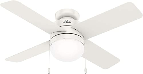 Hunter Fan Company 50359 Timpani Ceiling Fan, 44, Fresh White