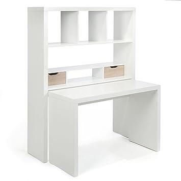 twisty bureau bureau modulable avec tagres et tiroirs blanc alinea - Bureau Informatique Alinea