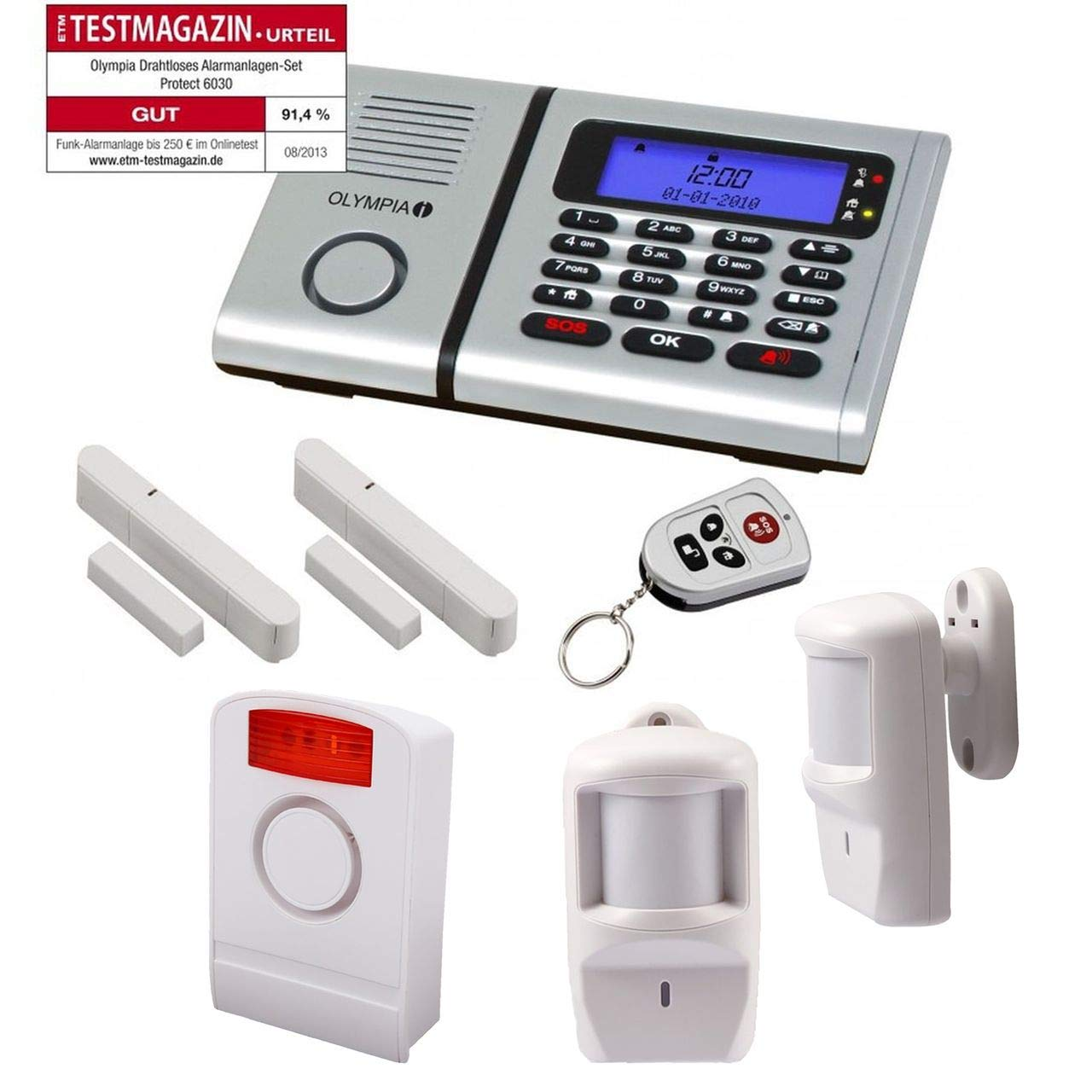 Sistema de alarma con 2 sensores de movimiento Olympia 6030