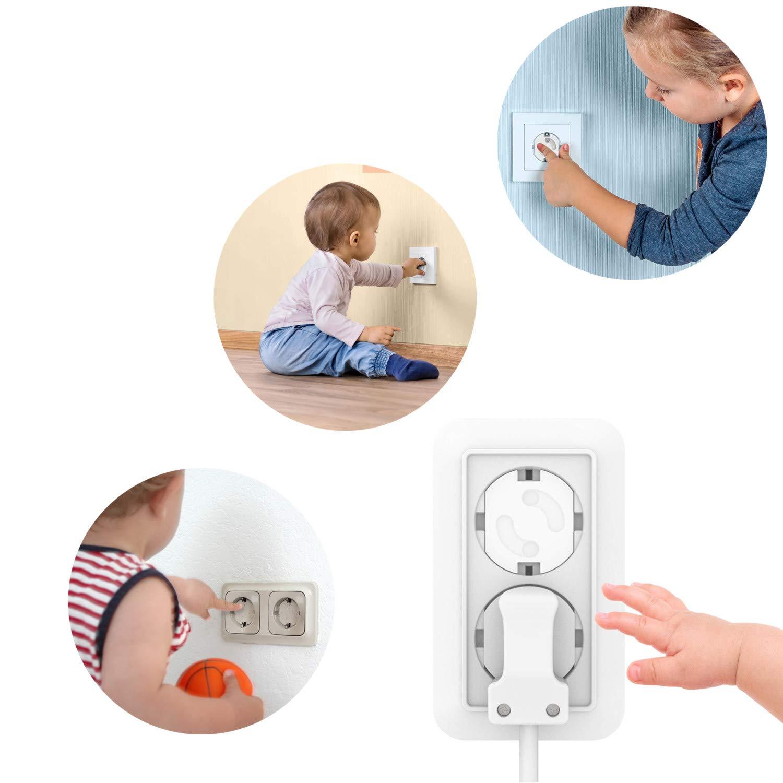 16 Steckdosenschutz, 8 Schranksicherung, 10 Eckenschutz, 4 Klemmschutz 05 Babysicherung Set Kinder Sicherheitsset Baby Sicherheitsschutz Komplett Set Kindersicherung