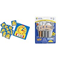 Learning Resources Write & Wipe Clocks Classroom Set, Set of 25, Ages 6+,Brown/a & Resources Pretend and Play, Play Money, Counting, Math, Currency, 150 Pieces, Ages 3+,Multicolor,