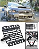 front tow hook wrx - EOS Version 1 Mid Sized Front Bumper Tow Hook License Plate Relocator Mount Bracket For 18-Up Subaru WRX & STi 2018 18
