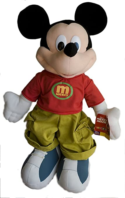 Amazon Com 2 Foot High Plush Mickey Mouse By Fisher Price Toys Games