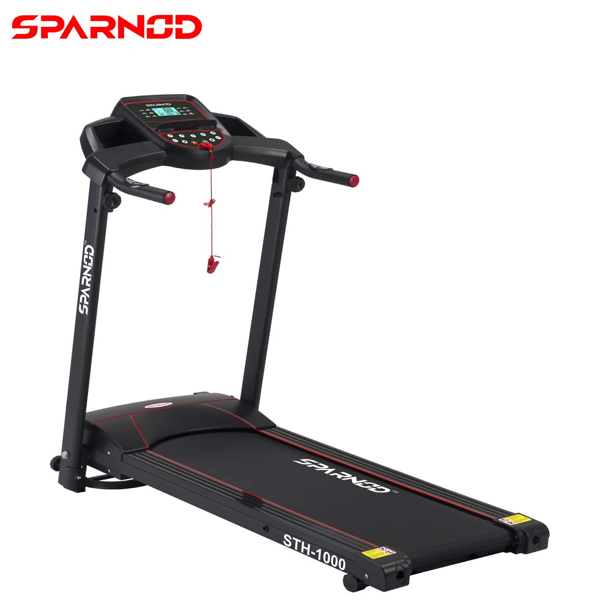 Sparnod Fitness STH-1000 (3 HP Peak) 100% Pre-Installed Foldable Portable Motorized Running Treadmill for Home Use Automatic (B0844HQHYM) Amazon Price History, Amazon Price Tracker