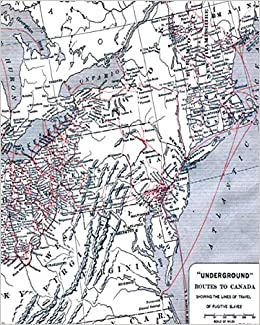 Underground Routes To Canada: Showing Lines Of Travel Of ... on underground railroad map, island of the blue dolphins map, bridge to terabithia map,