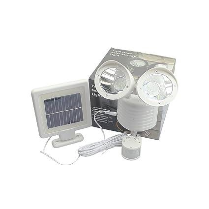 22 luz de calle solar del LED, BAFFECT & reg; Doble cabeza solar focos