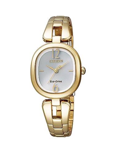 Citizen EM0185-52A - Reloj analógico de cuarzo para mujer, correa de acero inoxidable: Amazon.es: Relojes