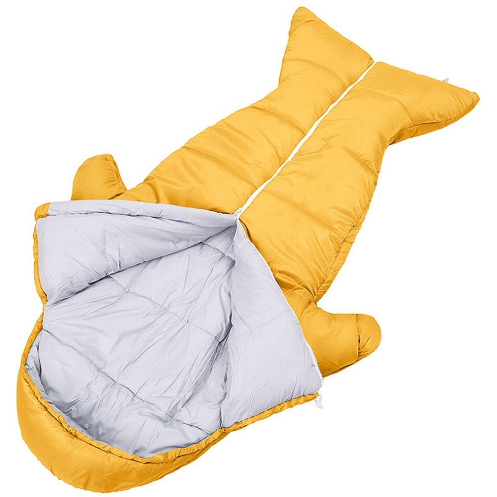 LJHA shuidai Saco de Dormir Momia/Impermeable/Niños Acampar al Aire Libre Espesar Saco de Dormir de Algodón con Bolsa de Compresión (3 Colores Disponibles) ...