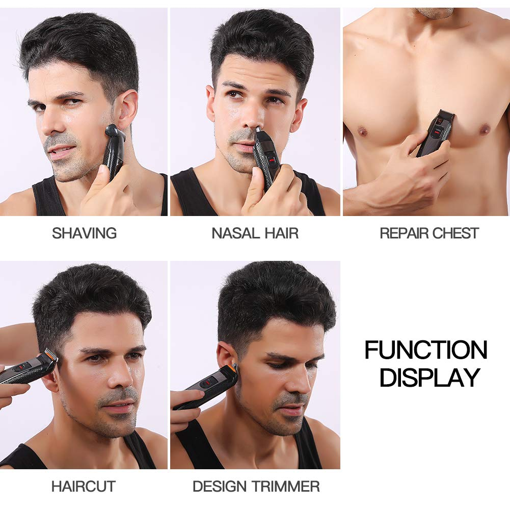 5 In 1 Mens Beard Trimmer Kit, Cordless Electric Hair Clippers Grooming Kit