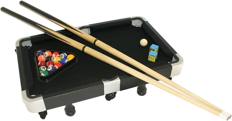 Lawrence Mini negro mesa de billar juego con caja de metal – 19 cm: Amazon.es: Deportes y aire libre