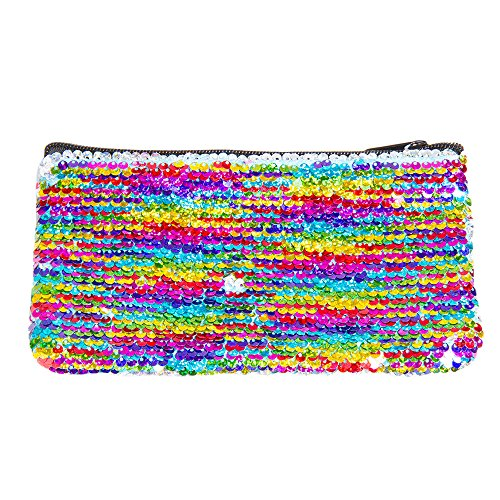 (Fashion Angels Style.Lab Magic Mini Sequin Pouch - Rainbow/Silver)