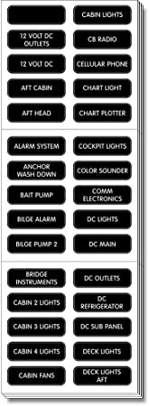 Blue Sea Systems 8067 Ac Panel Extended 120 Label Set