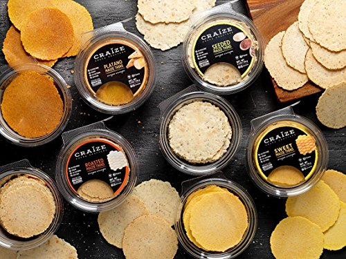 Poppers Variety Pack (Craize Maize Thins Arepa Crisps Roasted Vegan Gluten Free Soy Free Natural Ingredients Healthy Snack)