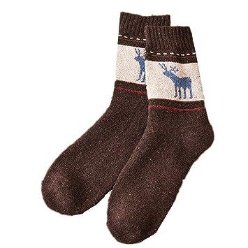 Morbuy Calcetines Deportivos Hombre, Lana de Conejo Calcetines Gruesos Mantener Caliente Calcetines de Ciervo de