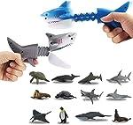 DINOBROS Hungry Shark Grabber Toys 2 Shark Grabbers with 12 Mini