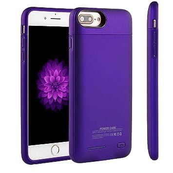 Funda Bateria iPhone 7/8, Cofuture 3000mAh Ultra Delgado Magnético Recargable Cargador Batería Externa Backup Protector Cargador Power Bank Carcasa ...