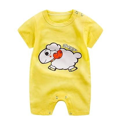 Xinantime - mameluco del bebé del verano del algodón de los niños siameses ropa que sube