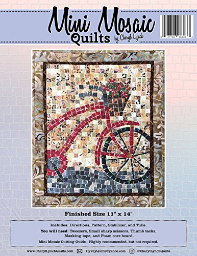 Bicycle Mini Mosaic Quilts Bike Cheryl Lynch Pattern Stabilizer and Tulle