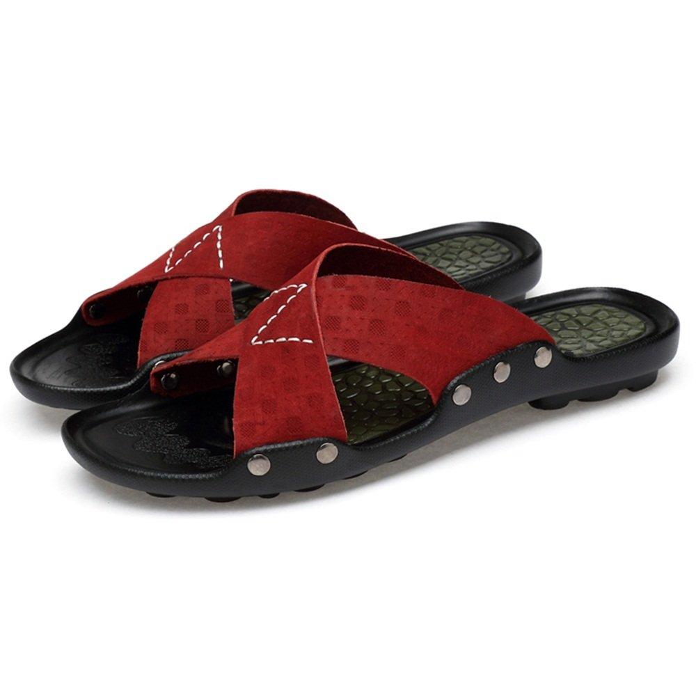 ZHANGRONG   Mens Lounge Slide Sandalen Sommer Schuhe überqueren über Strap ( Farbe : D   größe : EU38/UK5.5/CN38 ) B