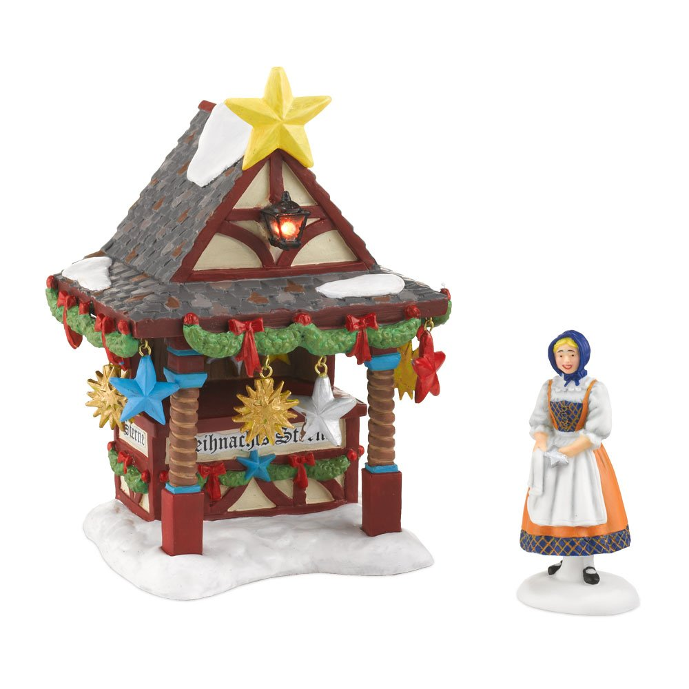 Department 56 Alpine Village Christmas Market Tree Topper Booth Accesssory Figurine