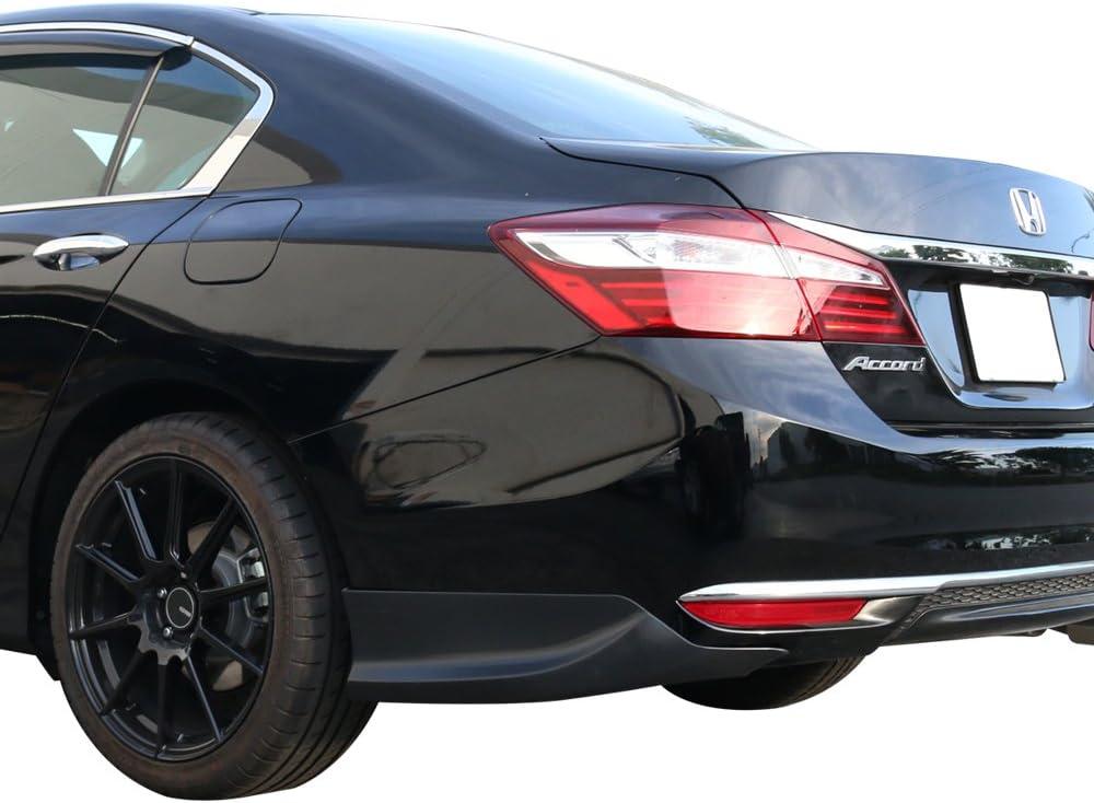 Rear Bumper Lip Compatible With 2016-2017 Honda Accord Sedan 4Dr HFP Style Unpainted Black Polypropylene PP Rear Diffuser Spoiler Splitter Valance Underbody Bumper Fascia Add On by IKONMOTORSPORTS