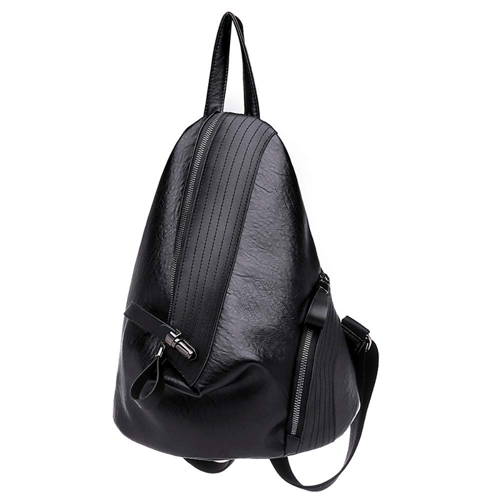 Hffan Damen Dreieck Klein Schulter Schultern PU-Leder Glattleder Umhängetasche Schultasche Elegant Einfach Freizeit Modisch Schultasche mit Reißverschluss Rucksack