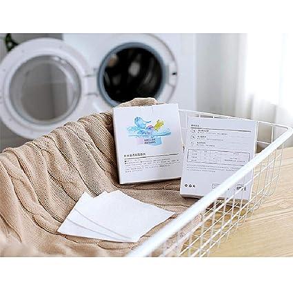 20 hojas de tela Anti-Dyed Sheets Color de lavandería funciona ...