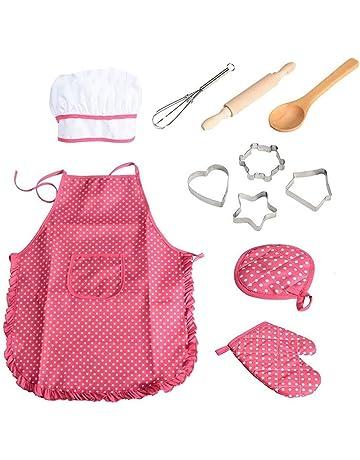 11pcs / pack chef de cocina Conjunto de niños Juegos de rol traje del cocinero con
