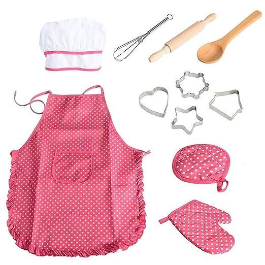 Ndier 11pcs / Pack Chef de Cocina Conjunto de niños Juegos de rol ...