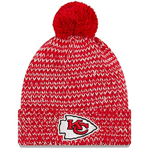 the best attitude 7b3d4 82e87 New Era NFL Kansas City Chiefs Women s Frosty Cuff Knit Beanie, One Size,  ...
