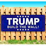 Flag, Many Sizes Available Advertising New Trump We Will Build It Again 13 oz Heavy Duty Vinyl Banner Sign with Metal Grommets Store