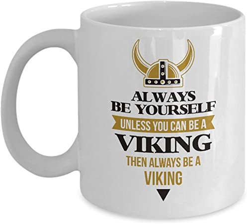 Gifts for Men Fathers Women Youth Simple Modern Licensed Minnesota Vikings 12oz Scout Coffee Mug Stainless Steel Vacuum Insulated Football Sports Fan Coffee Mug Merchandise Gear