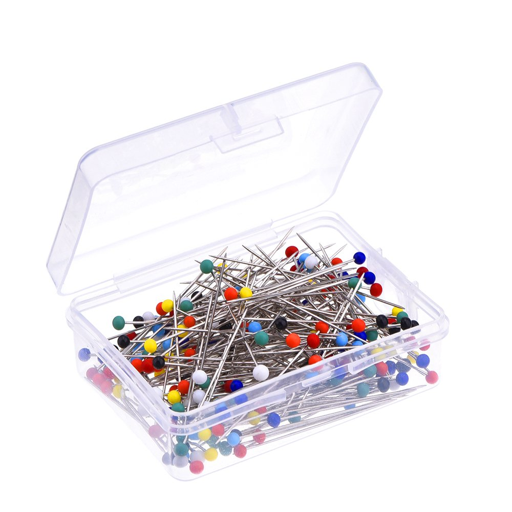 Outus 250 Pieces Glass Head Pins Boxed for Dressmaker (Multicolor) 4336996551