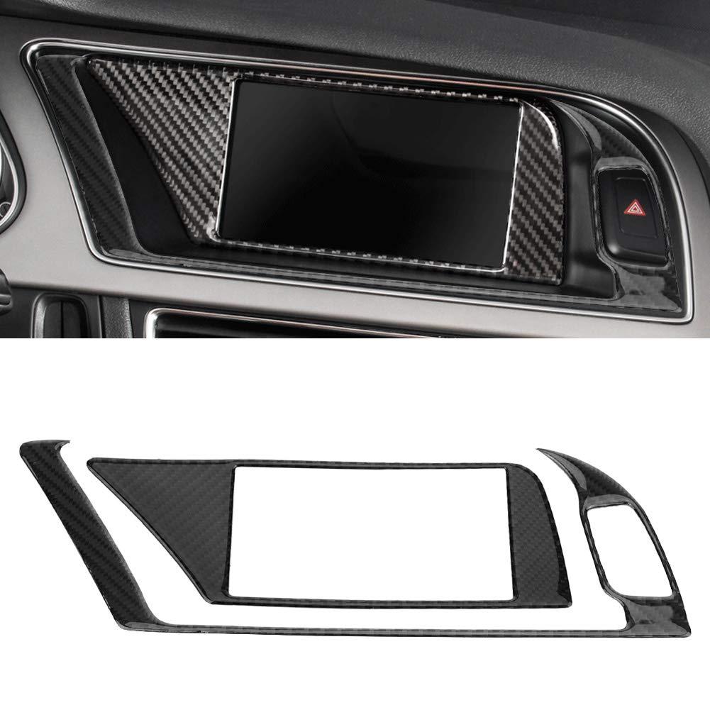 fibra di carbonio EBTOOLS Car Interior GPS Navigator Panel Frame Cover Trim