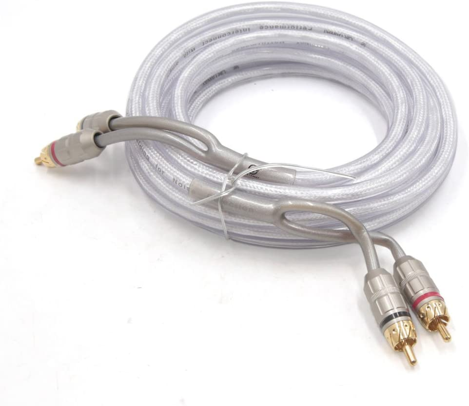 uxcell 5m Length Male to Male Copper RCA Stereo Audio Cord Cable Wire Adapter for Car
