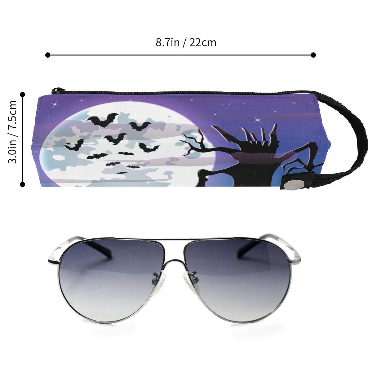 Estuche con cremallera para gafas de sol o cosm/éticos Coosun dise/ño de calavera de Halloween