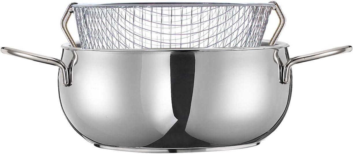 Inoxriv - Freidora Iobio, de Acero Inoxidable, diámetro: 20 cm.