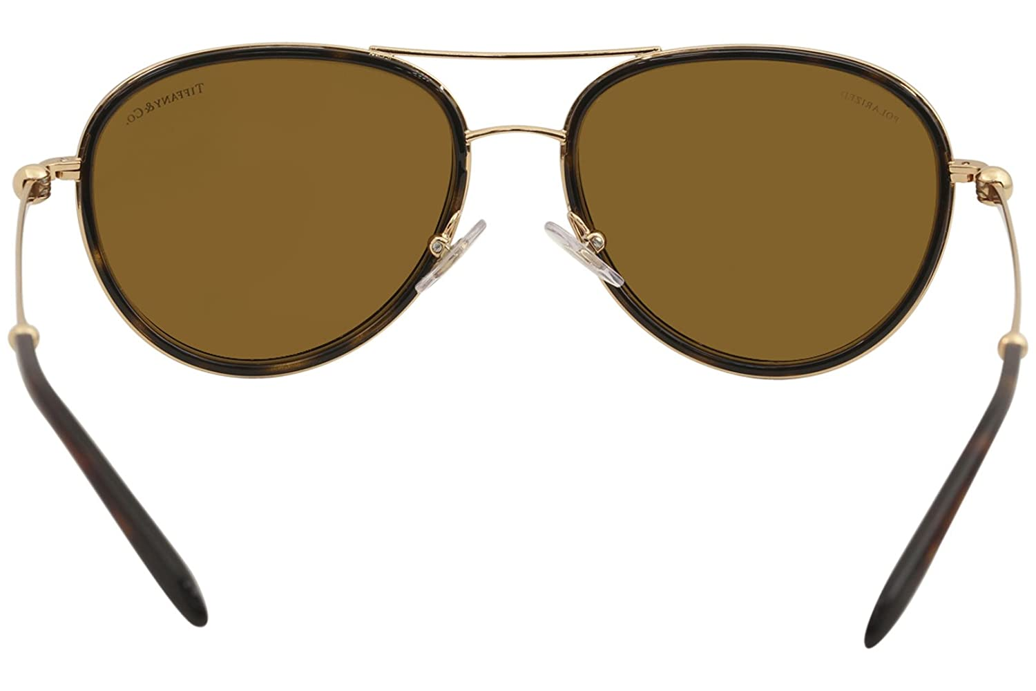 368aabe3092d Tiffany & Co. TF3059 TF/3059 6126/H6 Havana/Gold Pilot Polarized Sunglasses  55mm at Amazon Men's Clothing store: