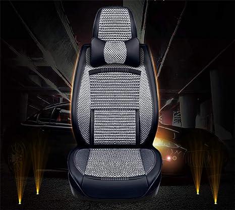 Balscw Cojín de asiento de automóvil rodeado - cáscara de trigo sarraceno de salud, almohadilla