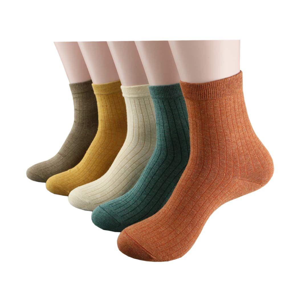 Gbcyan solid color cotton warm woman socks, socks for girls in autumn and winter, women socks for leather shoes and different styles dresses.